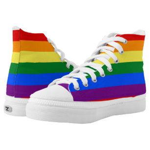 Unisex Casual High-Top Skate Shoes Classic Sneakers Adults Trainers Pansexual Pride Flag