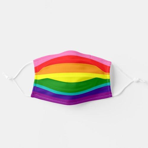 LGBT Rainbow Flag Original 8 Stripes Pattern Cloth Face Mask