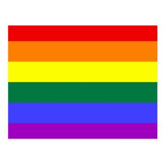 LGBT Rainbow Flag Postcard