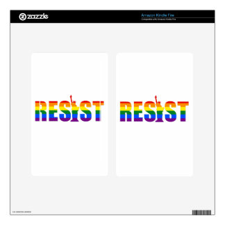 LGBT Rainbow Flag Resist Gay Pride Equal Rights Decal For Kindle Fire