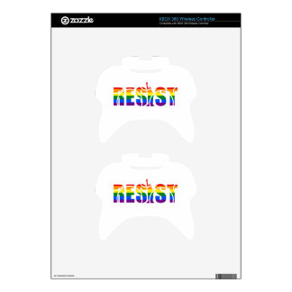 LGBT Rainbow Flag Resist Gay Pride Equal Rights Xbox 360 Controller Decal