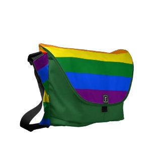 LGBT Rainbow Flag Rickshaw Messenger Bag