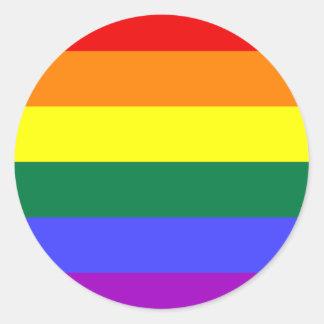 LGBT Rainbow Flag Classic Round Sticker