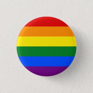 LGBT Rainbow Gay Pride Flag Button