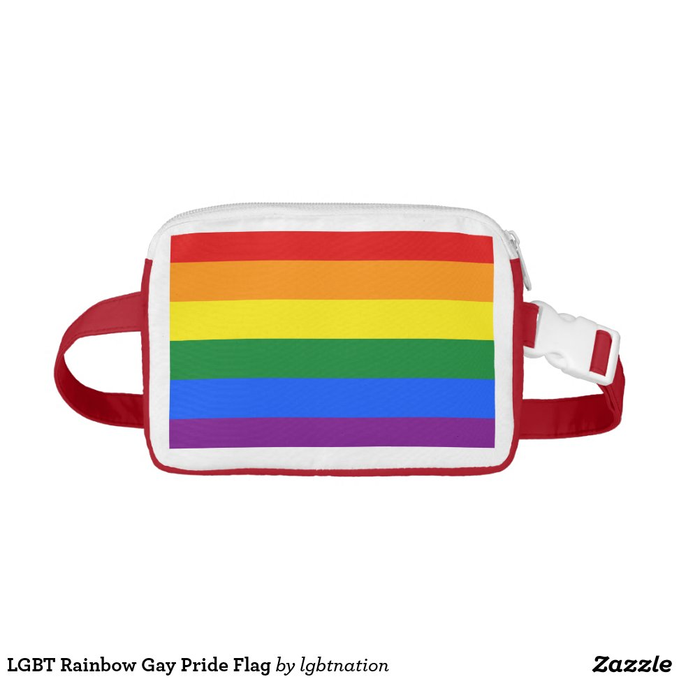 536c23d6 LGBT Rainbow Gay Pride Flag Fanny Pack - High Quality Alpha Male, Total  Freedom Fashionable