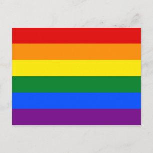 LGBT Rainbow Gay Pride Flag Postcard
