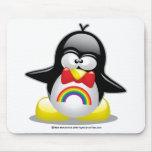 LGBT Rainbow Penguin Mouse Pad