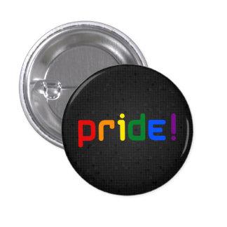 LGBT rainbow pride black button