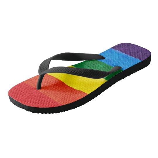 e86c335bf60d LGBT Rainbow Pride Flip Flops