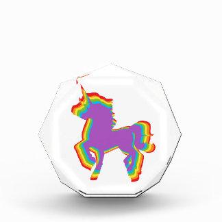 LGBT Rainbow Unicorn Acrylic Award
