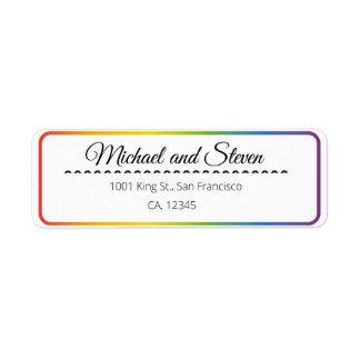 LGBT rainbow wedding label