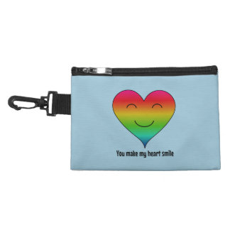 LGBT rainbow you make my heart smile Accessory Bag
