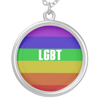 LGBT SILVER PLATED NECKLACE