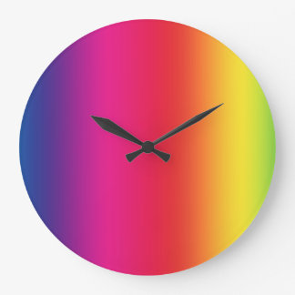 LGBT Social Movement Symbol Large Clock