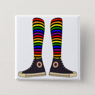 LGBT Socks Pinback Button