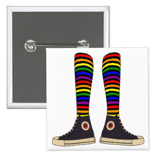 LGBT Socks Pinback Button