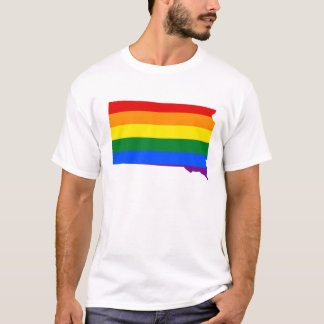 LGBT South Dakota, US state flag map T-Shirt