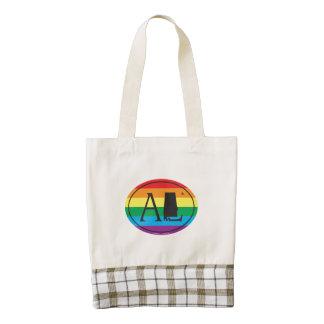 LGBT State Pride Euro: AL Alabama Zazzle HEART Tote Bag