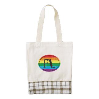 LGBT State Pride Euro: FL Florida Zazzle HEART Tote Bag