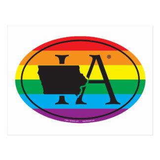 LGBT State Pride Euro: IA Iowa Postcard