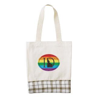 LGBT State Pride Euro: ID Idaho Zazzle HEART Tote Bag