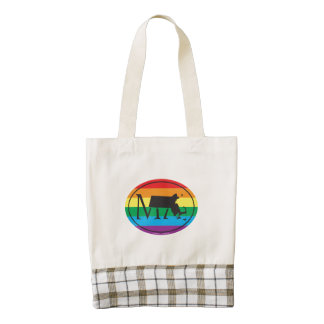 LGBT State Pride Euro: MA Massachusetts Zazzle HEART Tote Bag