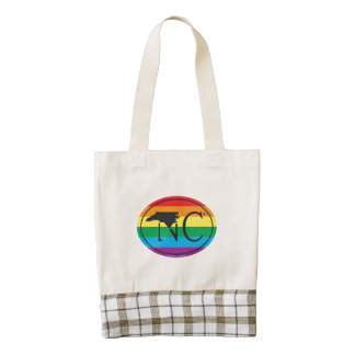 LGBT State Pride Euro: NC North Carolina Zazzle HEART Tote Bag