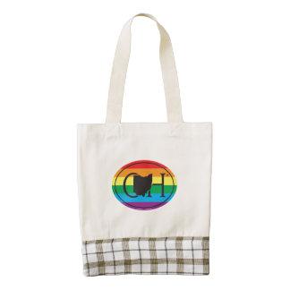 LGBT State Pride Euro: OH Ohio Zazzle HEART Tote Bag