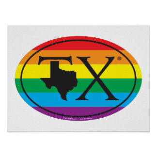 LGBT State Pride Euro: TX Texas Poster
