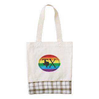 LGBT State Pride Euro: TX Texas Zazzle HEART Tote Bag