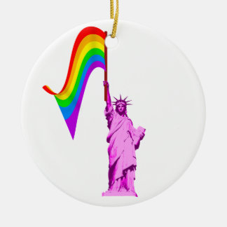 LGBT Statue of Liberty Ornament