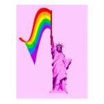LGBT Statue of Liberty Postcard