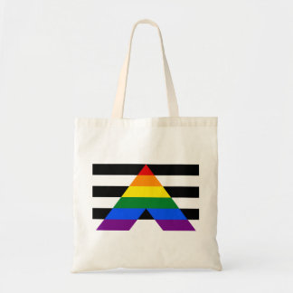 LGBT straight ally flag Budget Tote Budget Tote Bag
