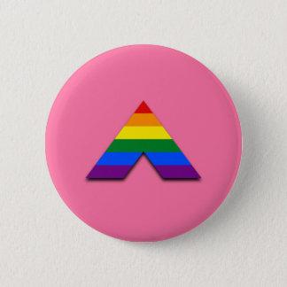 LGBT straight ally pyramid symbol Button