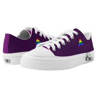 LGBT straight ally pyramid symbol Low-Top Sneakers