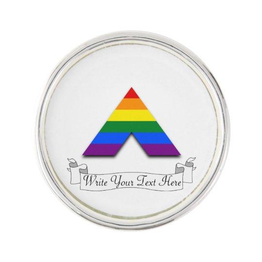 Lgbt Straight Ally Pyramid Symbol Pin Zazzle