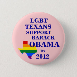 LGBT Texans for Obama 2012 Button