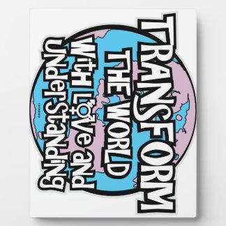 LGBT Transform The World Plaque