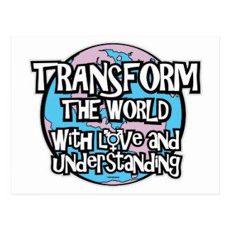 LGBT Transform The World Postcard