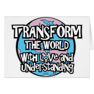 LGBT transforman el mundo Tarjeta De Felicitación