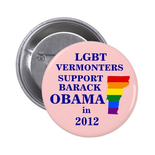 LGBT Vermonters for Obama 2012 Pinback Button