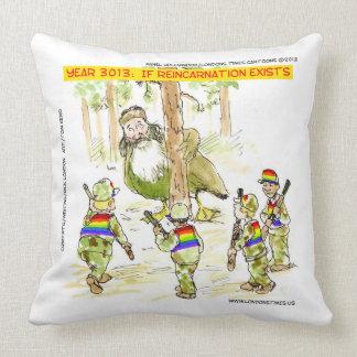 LGBT Vs Giant Ducks Funny Cotton Throw Pillow
