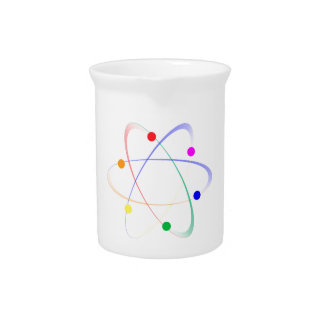 LGBT Whirling Atoms Drink Pitcher