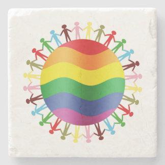 LGBT World Harmony Stone Coaster