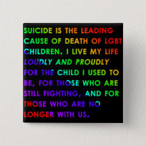 LGBT Youth Suicide Button