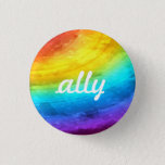 "LGBTQ  Ally Button<br><div class=""desc"">Show that you support equal rights with this ally rainbow button.</div>"