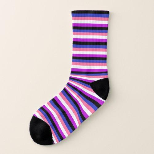 LGBTQ Genderfluid Flag Pride Socks