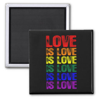 LGBTQ Love is Love is Love Magnet
