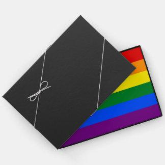 LGBTQ Love Pride Colorful Stripes Rainbow Flag Guest Book