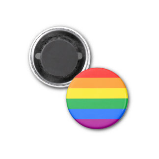 LGBTQ Pride Flag 1 Inch Round Magnet
